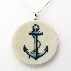 #Anchor #Necklace- handmade using decoupage technique.