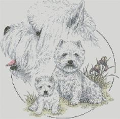 Cross Stitch Chart - Kit The West Highland Terrier Dog