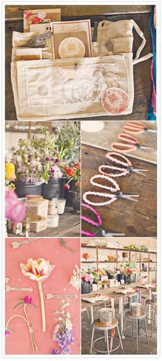 Indian Summer floral workshop at Amy Osaba event.floral.design studios at the Goat Farm in Atlanta
