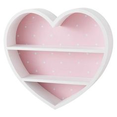 LILLY Pink and White Heart Shelf This furniture product is made of FSC certified wood. This label guarantees that the wood comes from a responsibly managed forest; by choosing this pr Diy Cardboard Furniture, Cheap Furniture, Kids Furniture, Furniture Chairs, Luxury Furniture, Girl Room, Girls Bedroom, Bedroom Decor, Cute Room Decor