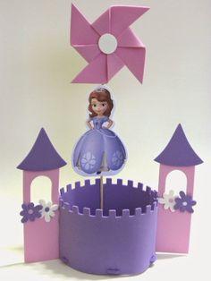 Resultado de imagen para centro de mesa de la princesa sofia en goma eva