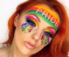 Glitter Makeup Looks, Makeup Eye Looks, Creative Makeup Looks, Crazy Makeup, Makeup Inspo, Makeup Inspiration, Makeup Ideas, Flawless Makeup, Gorgeous Makeup