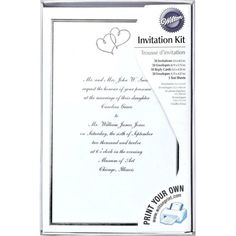 ea2a44197f32 32+ Creative Photo of Brides Wedding Invitation Kits · Wedding Invitations  ExamplesHeart Wedding InvitationsWedding Invitation KitsBridal Shower ...