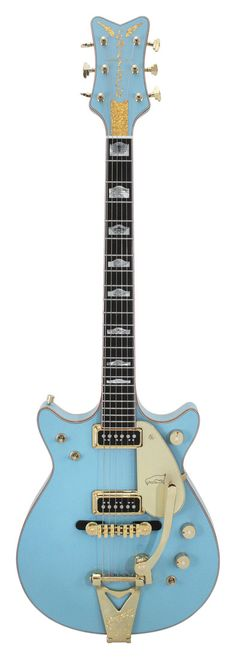 Gretsch Masterbuilt Penguin Double Cutaway Custom Shop Daphne Blue