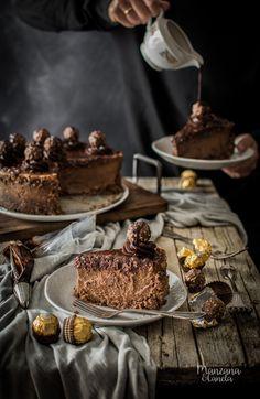 Cheesecake de Nutella y Ferrero Rocher. #cheesecake #nutella #ferrerorocher
