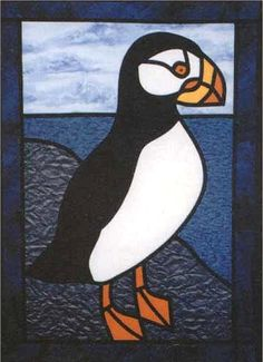 Puffin Stained Glass Quilt Pattern - at The Virginia Quilter
