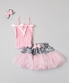 Love this Pink Zebra Tutu Set - Infant & Toddler by Royal Gem on #zulily! #zulilyfinds