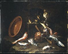 Guiseppe Recco A Cat Stealing Fish 17th century
