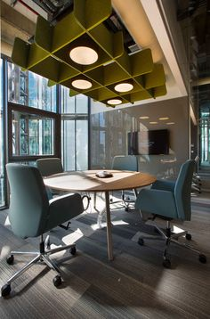 Meeting pop up area | Lighting | Ceiling | Deloitte Turkey Headquarters Offices
