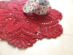 Hey, I found this really awesome Etsy listing at https://www.etsy.com/listing/205709203/giant-crochet-doily-rug-red-christmas