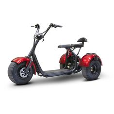 E-Wheels Trike Chopper 3 Wheel Chopper Trike, Red Trike Chopper, Electric Trike, Electric Vehicle, Electric Cars, Powered Wheelchair, Third Wheel, Big Wheel, Kart, Bike Seat