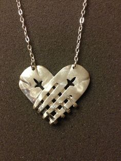 Heart Fork Necklace by TwiceTreasuredDesign on Etsy, $45.00