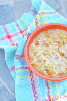 Thai Noodle Soup - Thai Noodle Soup is the perfect recipe for kicking a sickness, warming up on a cold day or just to enjoy a soup with a ton of flavor!
