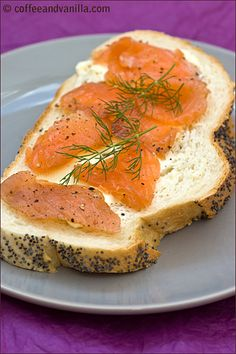 Norwegian Gravlaks - salmon cured with dill, spices, sea salt and sugar