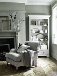 Neptune Olivia armchair in Hugo Millet linen with pale oak legs, Camilla cushions in Isla Mallard velvet #homedecorlivingroommodern