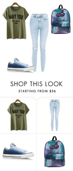 """Untitled #474"" by aminamuratovic3 ❤ liked on Polyvore featuring New Look, Converse and Vans"