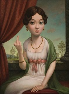 My favorite painting from my favorite pop surrealist artist, Marion Peck. Entitled 'Fuck You'. ;) More