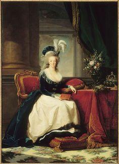 Marie Antoinette in a Blue Velvet Dress and a White Skirt Élisabeth Louise Vigée Le Brun (French, Paris 1755–1842 Paris)