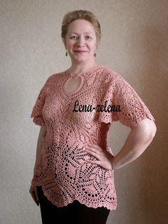 crochelinhasagulhas: Blusa rosa de crochê