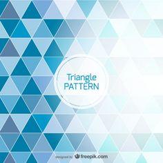 青い背景の三角形のデザイン