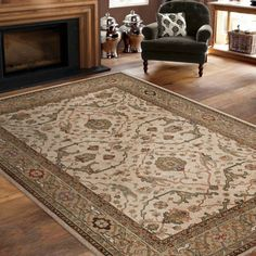 Soft Impressions 100% Olefin Pile Rug Collection - Ankara Beige