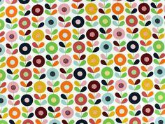 Decoratie stof, Cirkelblomma, rood - Decoratiestoffen met bloemen - voordelig kopen in de online shop / stoffenwinkel
