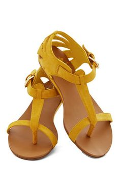 perfer in a red or light blue. Walk on Sunshine Sandal, #ModCloth