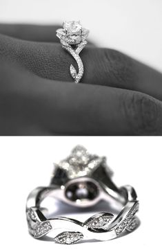 This is gorgeous!! It looks like a ring that the Beast would have given Beauty. : )