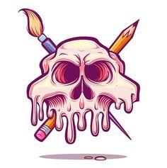 Art Room Jolly Roger by Juan Villamil, via Behance Graffiti Art, Graffiti Doodles, Graffiti Drawing, Art Drawings, Posters Geek, Vexx Art, T Shirt Art, Desenhos Halloween, Graffiti Characters