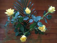 Yellow roses grown in a northern suburb of Brisbane.