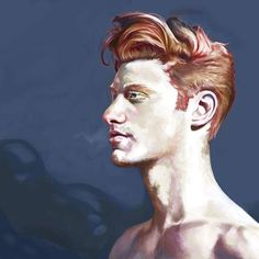 Verblassendes rot.  Digital painting - Photoshop  4:10h  www.youtube.com/watch?v=kNeKjpqCG6Q  #art #arts #artwork #kunst #photoshop #painting #man #redhead #hair #face #portrait #digitalart #digitalpainting #youtube #speedpaint #redhair #malemodel