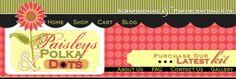 Scrapbooking Kits - Paisleys and Polka Dots Monthly Project Kit Club Mini Albums Layout Kits