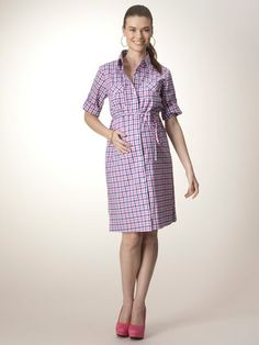Rosie Pope Pocket Front Shirt Dress