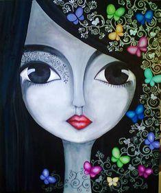 """Estás en todo lo que veo.  Y en todo lo que veo, me encuentro.   En los ojos nacen los milagros.      Ilustración """"Zoom"""" by © Romina Lerda..."""