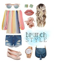 """Brunch Style"" by colormeclear ❤ liked on Polyvore featuring Chloé, rag & bone, Lime Crime, Kate Spade, Le Specs and Bobbi Brown Cosmetics"