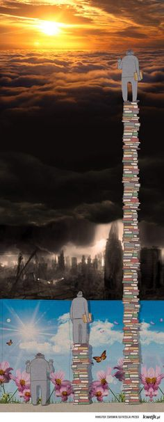 This is really powerful. Reading is super important and I think this captures a very interesting view on the concept of knowledge.Reading opens the world to you and gives you new perspectives on life. I Love Books, Good Books, Books To Read, My Books, Reading Books, Reading Art, Image Citation, Book Fandoms, Book Quotes