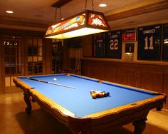 My butchy side wants a pub in the old basement office with a pool table and big ol TV! And a foosball table too! With a bar and beer.....and.....and.....(Basement Sports Memorabilia Rooms Design, Pictures, Remodel, Decor and Ideas - page 6)