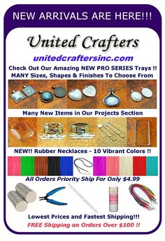 United Crafters website: This is where I have bought supplies to make glass tile pendants. Lots of selection, good quality and fast shipping! Bottle Cap Jewelry, Glass Tile Pendant, Wholesale Supplies, Craft Supplies, Vibrant Colors, Pendants, Craft Ideas, The Unit, Crafty