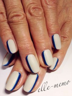 #nail #nails #nailart I would love to do this with Seahawks Colors but, someone else would have to do it for me.