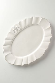 Fleur De Lys Platter, Large #anthropologie #PinToWin @Anthropologie @Remodelista @thanksgivingtable