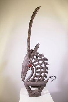 Cimier africain Bambara antilope Tywara 9-126 150 : Galerie Art Africain : masques et statues africaines, décoration et arts primitifs Afrique