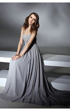 Romantic A-line Sweetheart Asymmetrical Silver Satin Dress