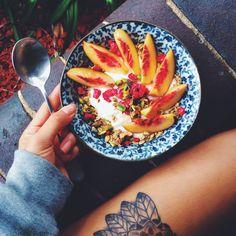 ஐ Peaces and yogurt parfait