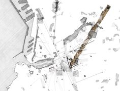 futureproofdesigns: The Transcendental Piano, an urban scale acoustic strategy for Marseille Tom Fotheringham 2011 Architecture Drawing Plan, Architecture Mapping, Concept Architecture, Amazing Architecture, Landscape Architecture, 3d Modelle, Landscape Concept, Site Plans, Urban Planning