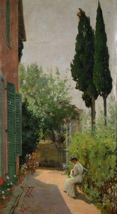Francesco Gioli ~ In Giardino ~ (Italian: 1849-1922)