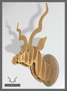 Medium Kudu head in bamboo - R1620 Buy at the Watershed, Waterfront or visit my website www.headondesign.co.za