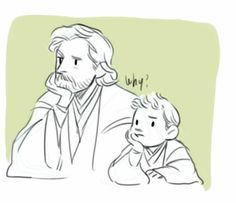 Obiwan and little Anakin <3