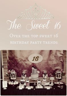 Create an MTV-style bash for a sixteenth birthday by utilizing some of these over-the-top sweet 16 birthday party ideas and themes!