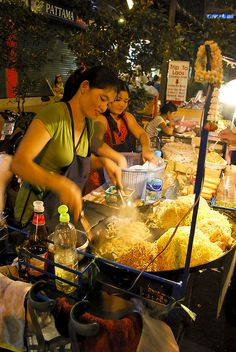 Fried noodle vendor, Thailand