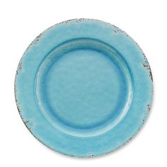 My favorite of all! Rustic Melamine Dinner Plates, Set of 4, Turquoise from Williams-Sonoma.